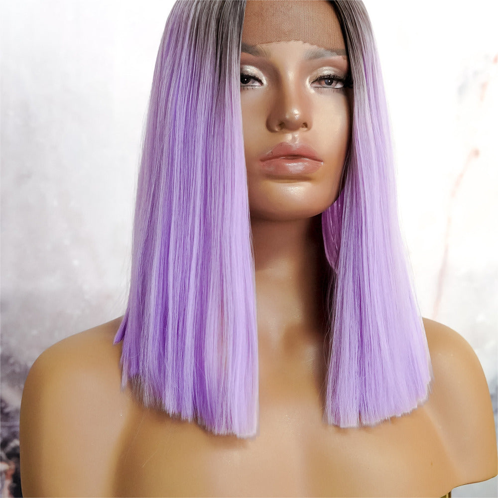 LAURA Purple Ombre Lace Front Wig