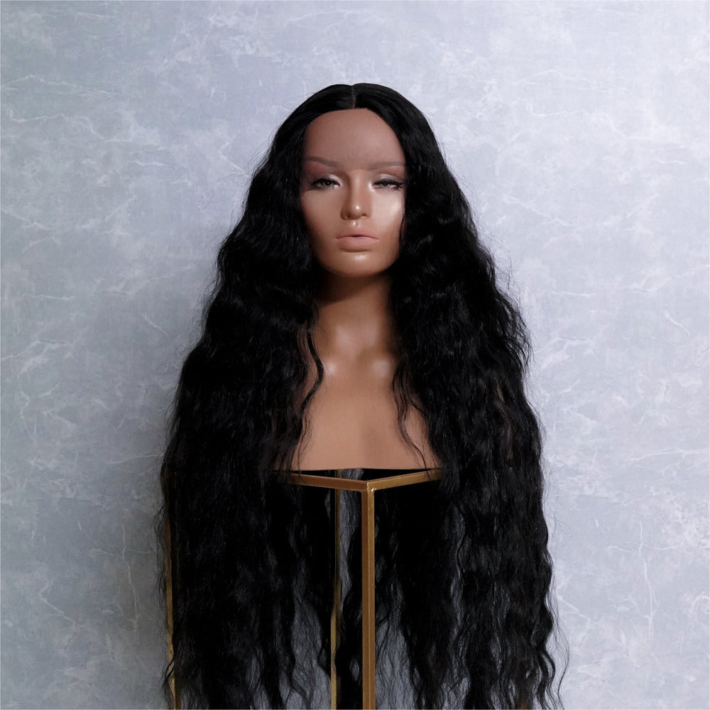 "CARDI 40"" Black Lace Front Wig"
