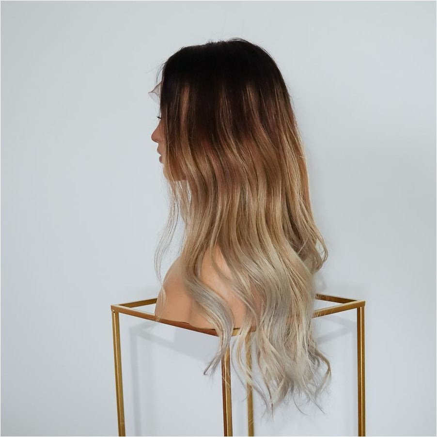 KOURTNEY OMBRE Human Hair Full Lace Wig