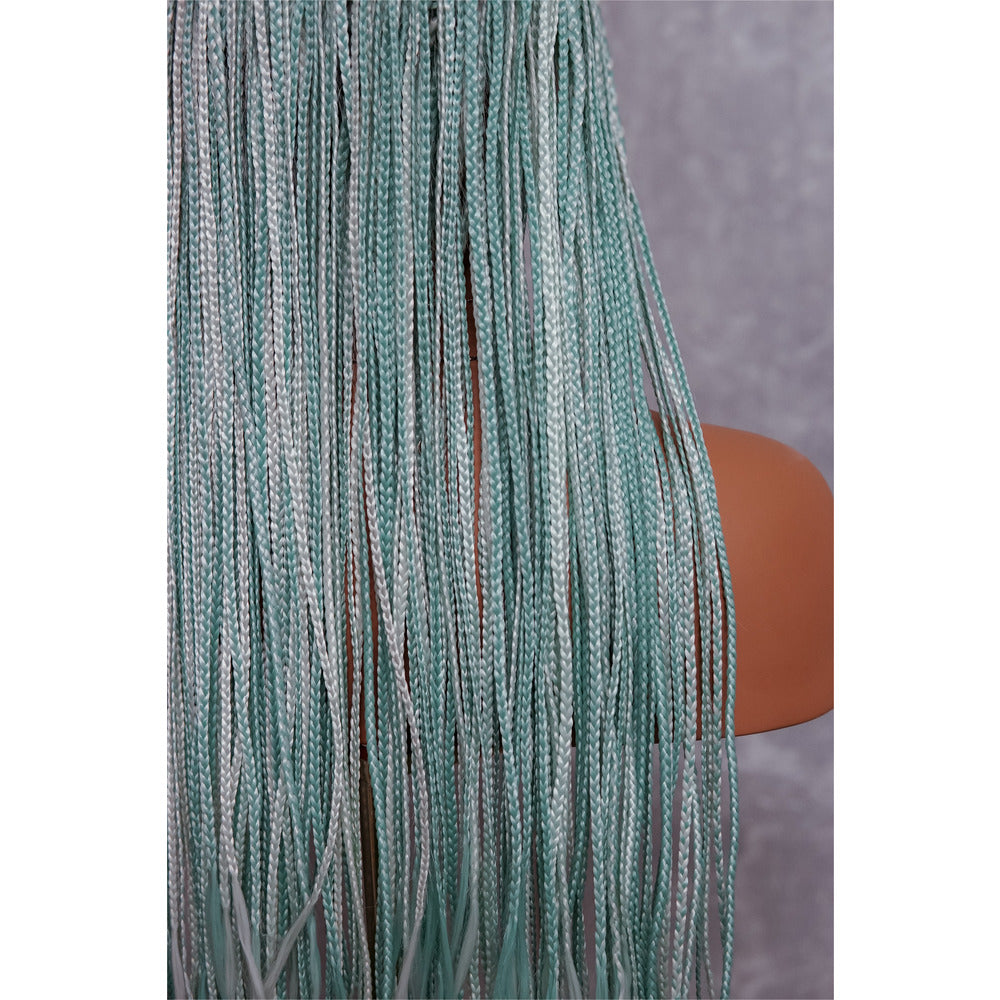 "PHOENIX Mint Braided 26"" Lace Front Wig"