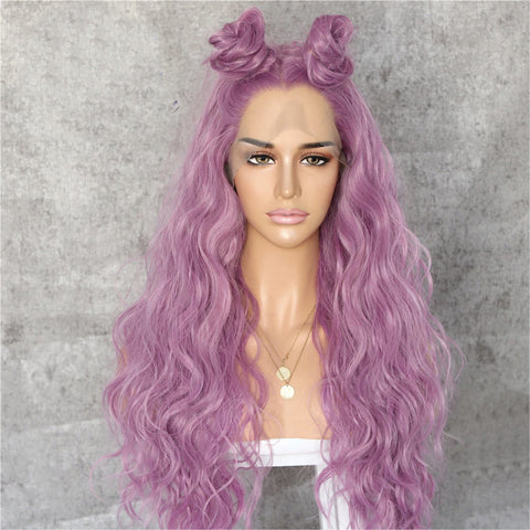 "Leyla Pink Wavy 24"" Lace Front Wig"
