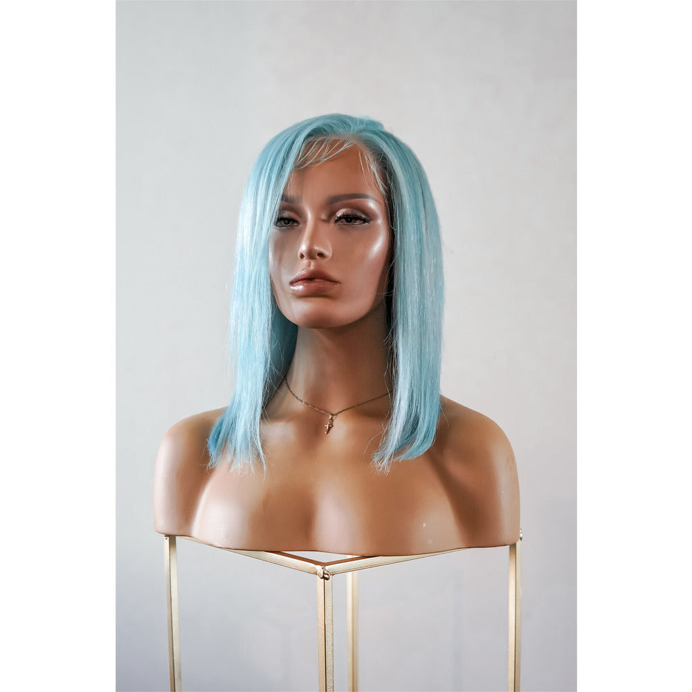 "SEAMIST BLUE 12"" Full Lace Wig - SAMPLE"
