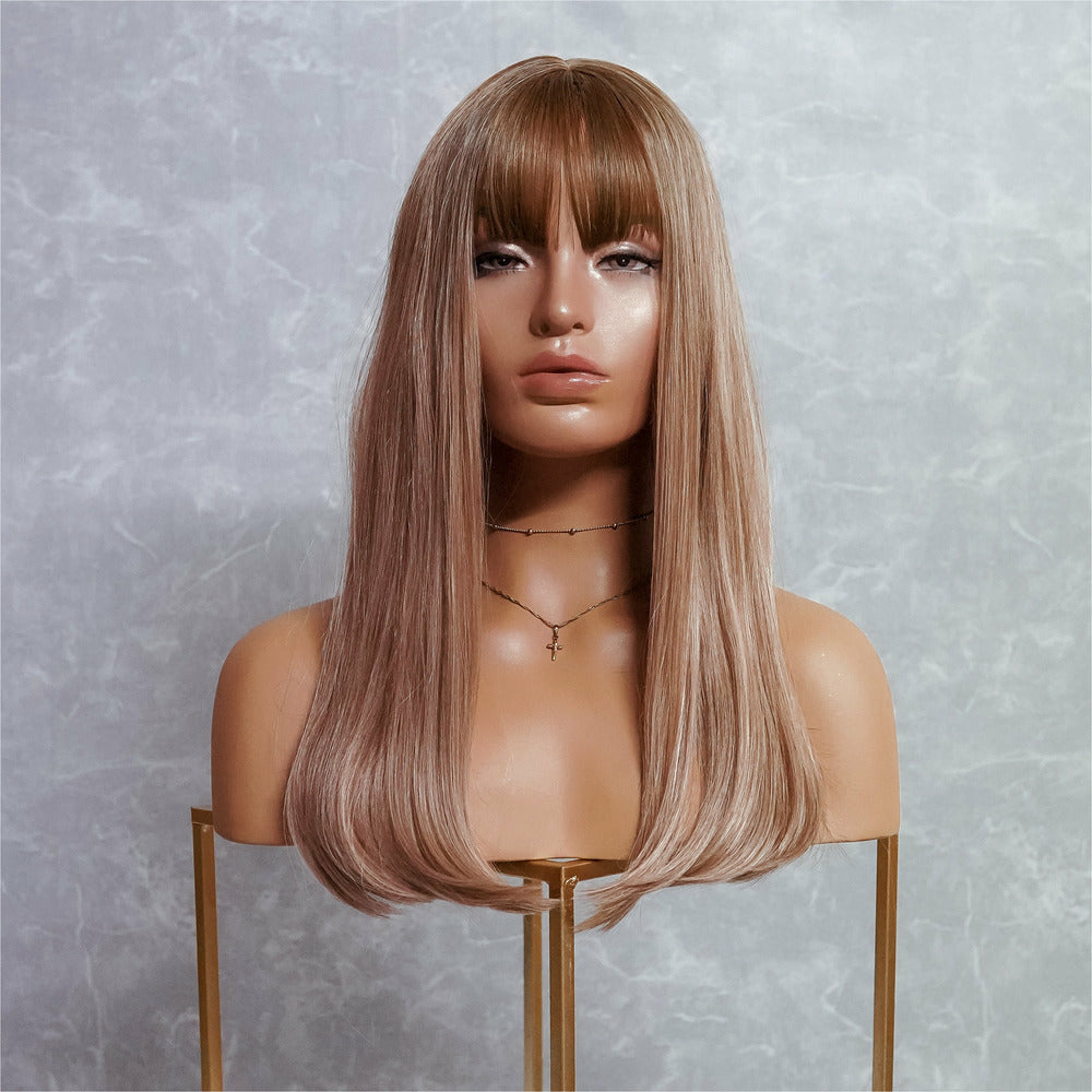 "ASHLEY Caramel Blonde 18"" Fringe Wig"