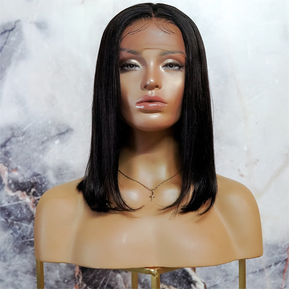 "TAMARA BLACK 12"" Human Hair Lace Front Wig"