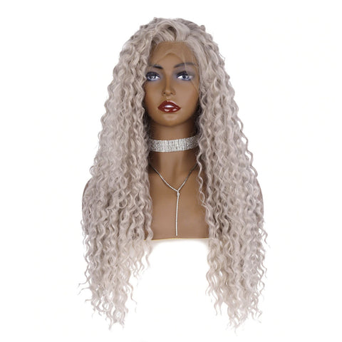 "Vanilla Blonde Curly 26"" Lace Front Wig"
