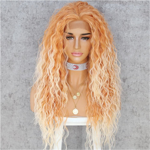"JAGGER Ombré Orange Wavy 24"" Lace Front Wig"