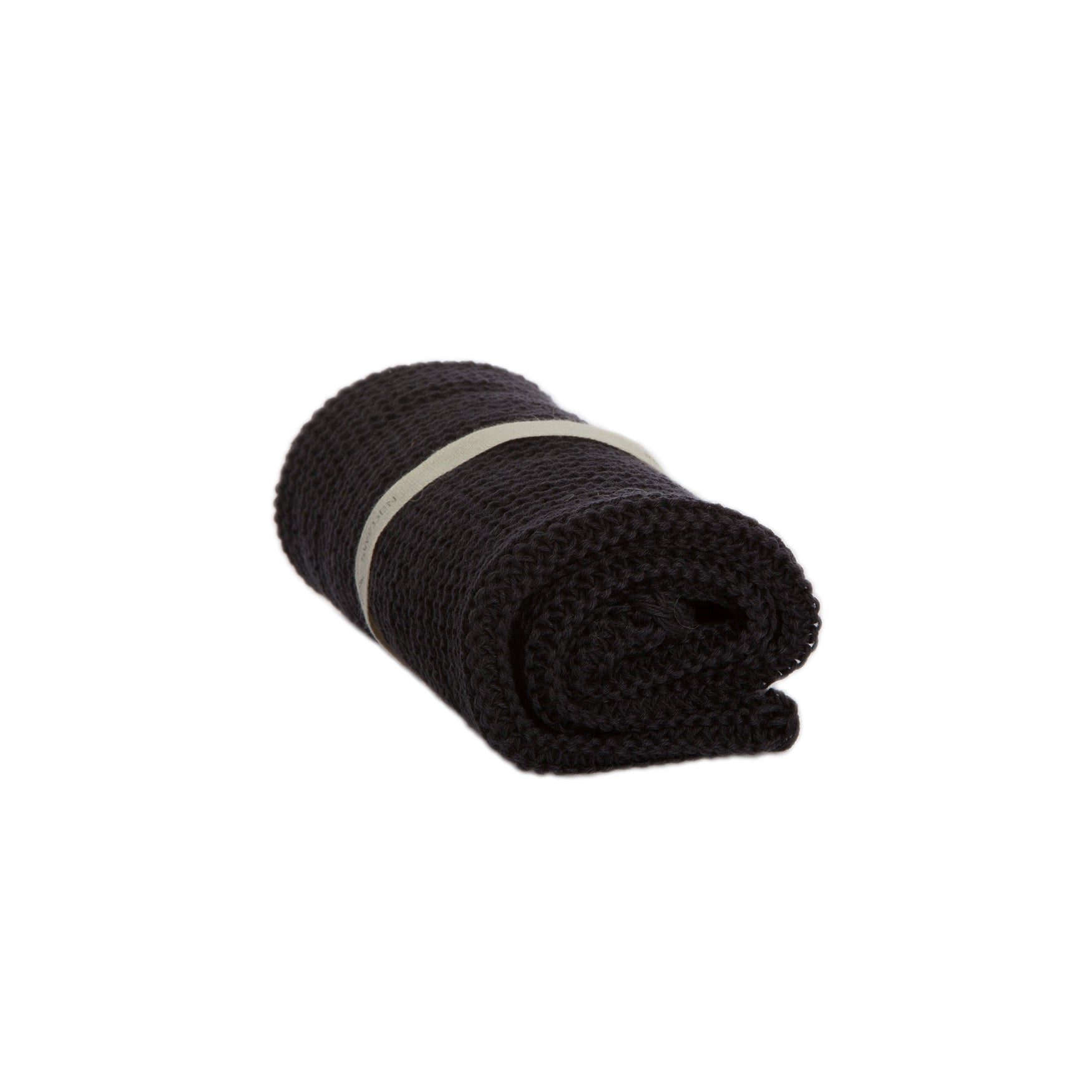 Organic Knitted Cotton Wash Cloth | Dark Grey - Noli