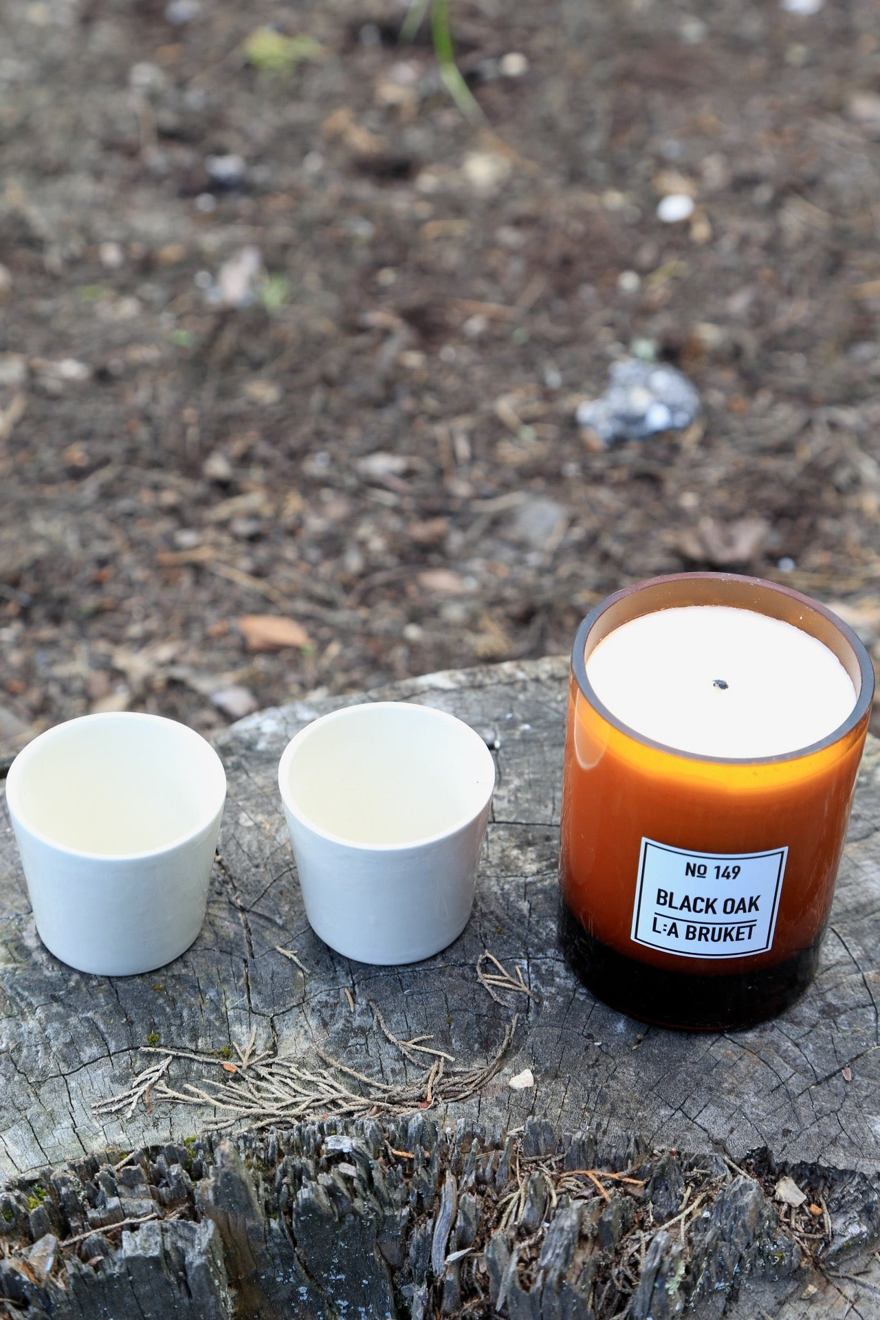 Spring Bundle No. 3 | Black Oak Candle + 2 Handmade Espresso cups - Noli
