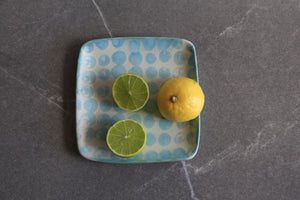 Small 'Ruutu' Blue Speckle Platter - Noli