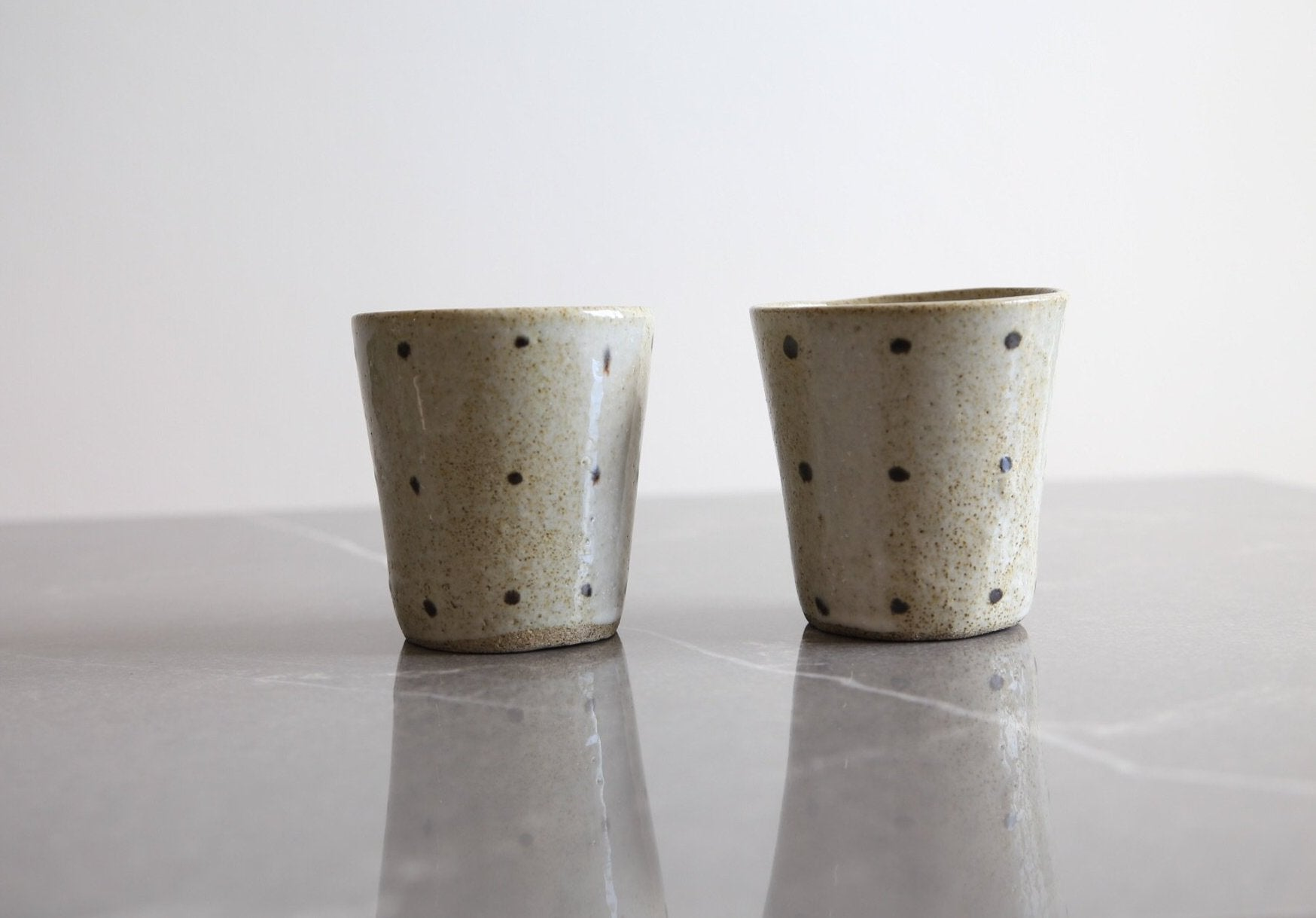 Nordic Rustic Cup with Dots | Set of 2 cups - Noli