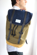 Stig Backpack with Leather Straps, Multi-colour - Noli