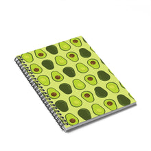 Load image into Gallery viewer, Avocado Spiral Notebook Ruled Line