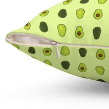 Load image into Gallery viewer, Avocado Pattern Polyester Square Pillow