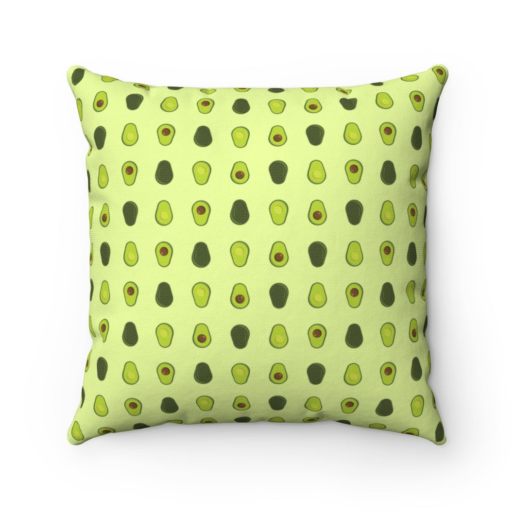Avocado Pattern Polyester Square Pillow
