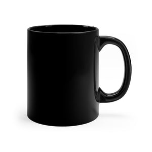 Pious Little Shit Black Mug 11oz