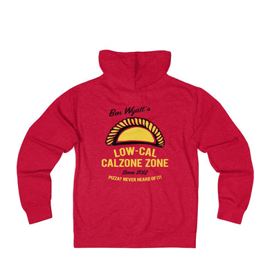 Ben Wyatt's Low-Cal Calzone Zone Unisex French Terry Zip Hoodie