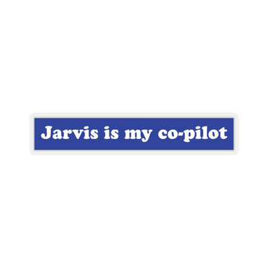 Jarvis is my co-pilot Avengers Age of Ultron Marvel Tony Stark sticker quinjet
