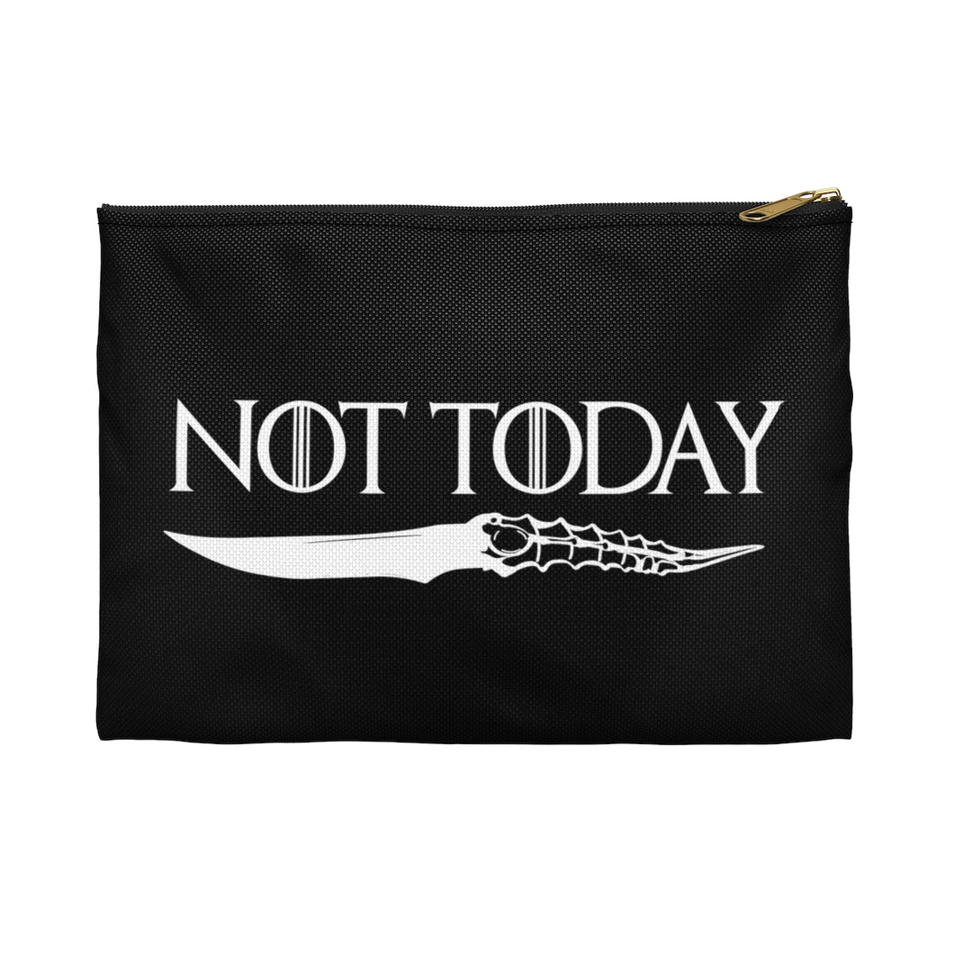 Not Today Game of Thrones Accessory Zipper Pouch