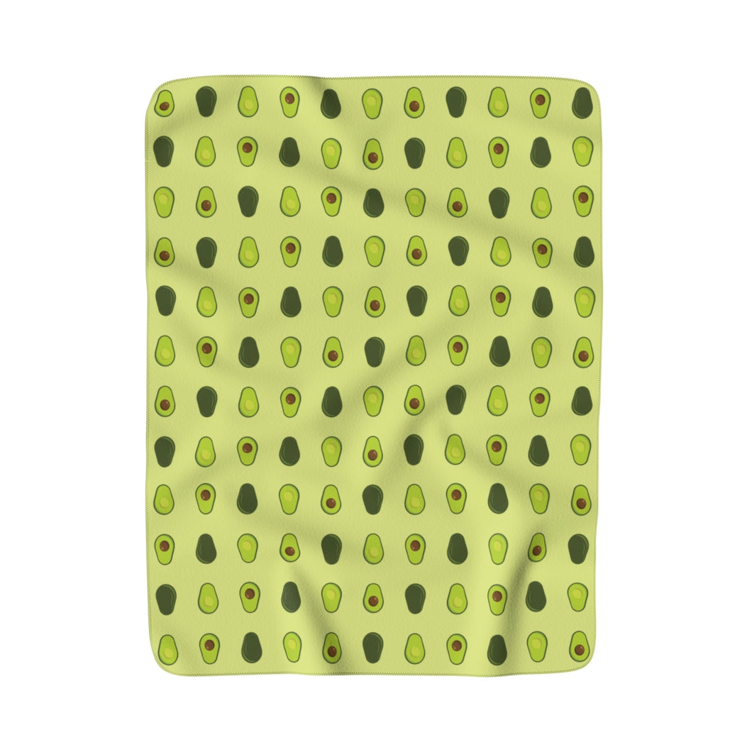 Avocado Sherpa Fleece Blanket