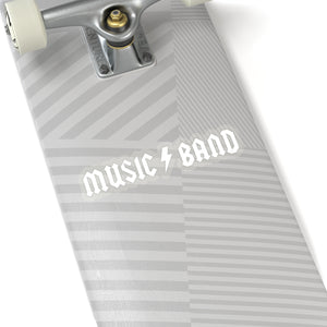 Music Band Sticker - White