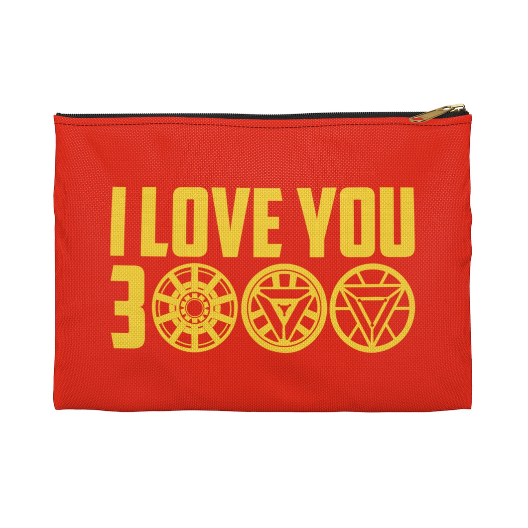 I Love You 3000 Iron Man Accessory Zipper Pouch