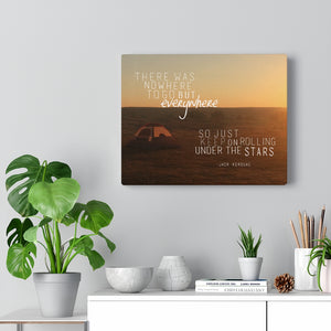 Jack Kerouac Canvas Wall Art - Jack Kerouac, On The Road