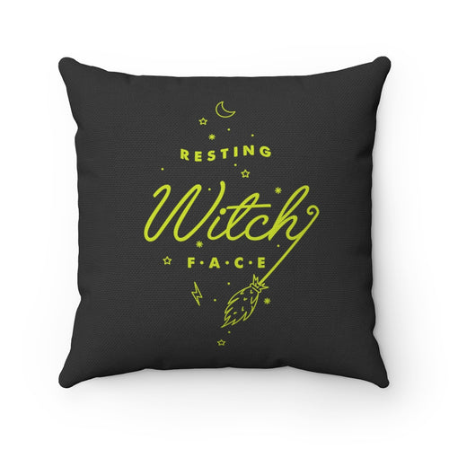 Resting Witch Face Square Pillow