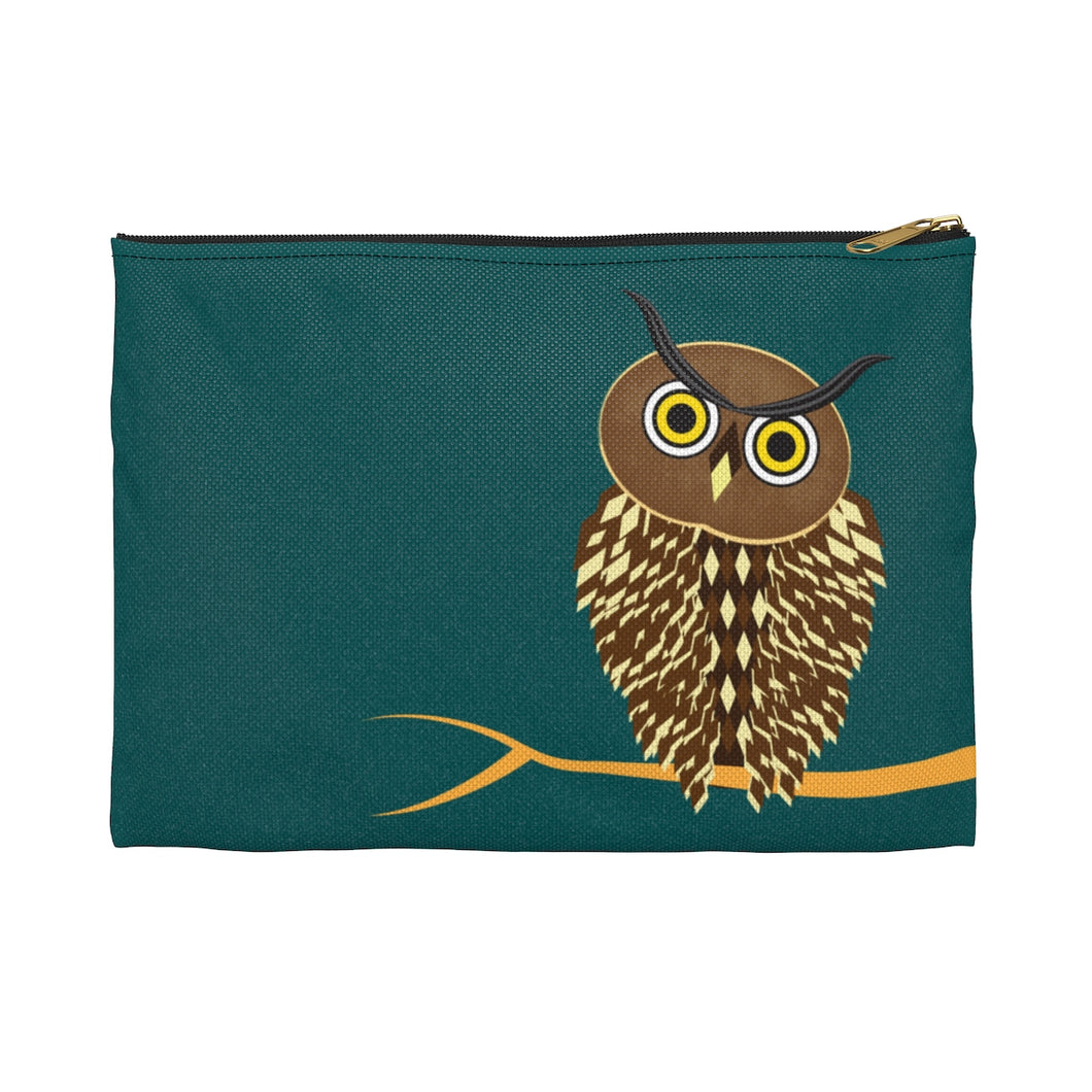 Owl Accessory Zipper Pouch