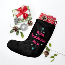 Load image into Gallery viewer, Feliz Navidaddy Yas! Christmas Stocking