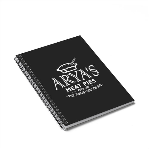 Arya's Meat Pies Game of Thrones Spiral Notebook