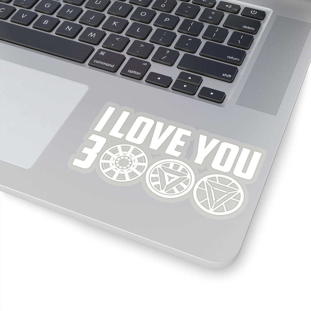I Love You 3000 Sticker. From Marvel's Avengers Endgame. Iron Man Tony Stark.
