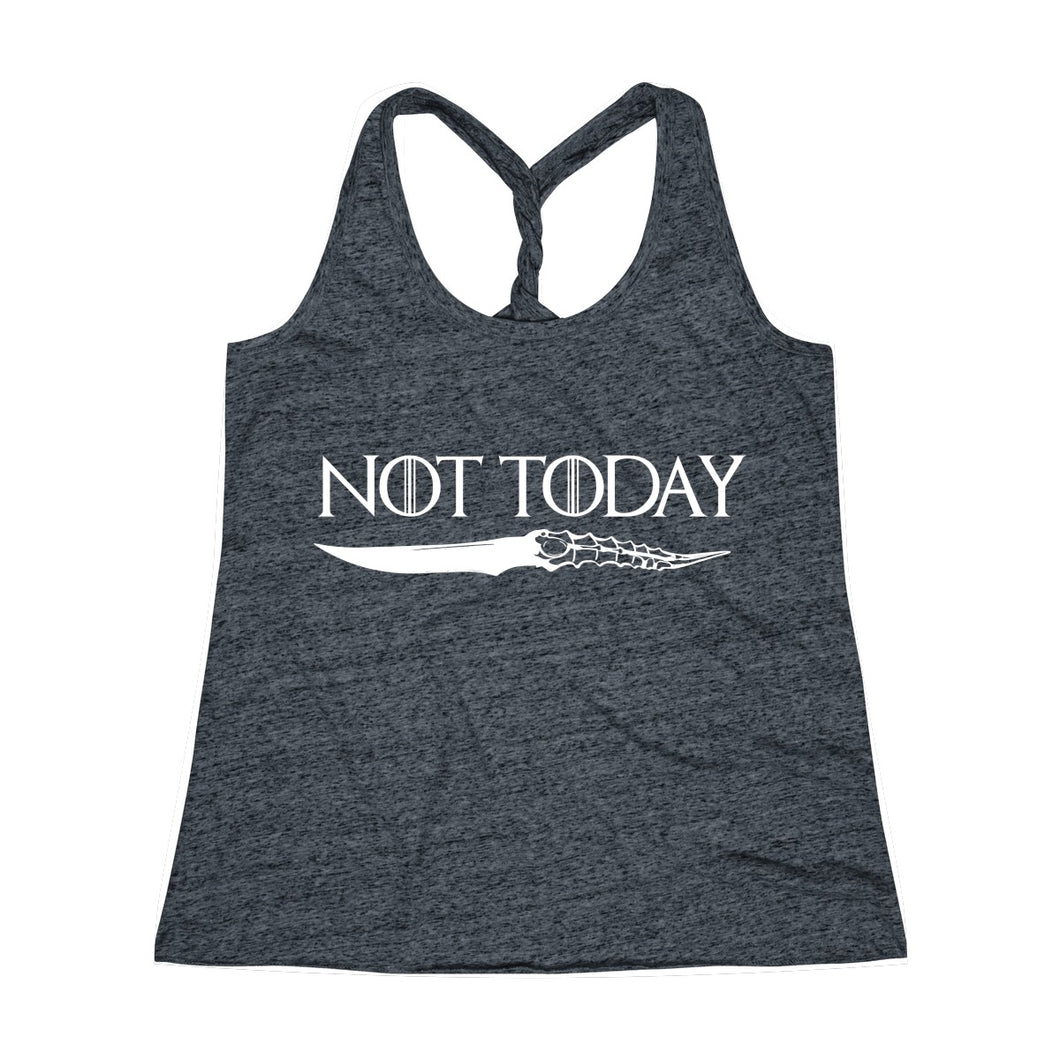 Not Today - Game of Thrones Women's Twist Back Tank Top