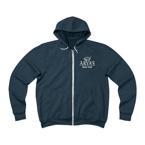 Arya's Meat Pies Fleece Full-Zip Hoodie
