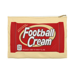 Football Cream Accessory Pouch