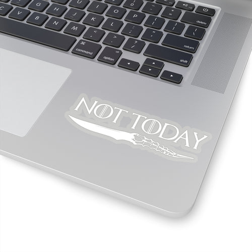 Arya Stark Not Today Night King Catspaw Dagger Sticker