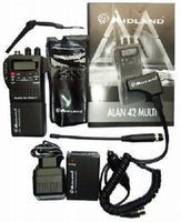 CB Radio Midland 42 Multi AM/FM UK/EU Handheld with All Accessories