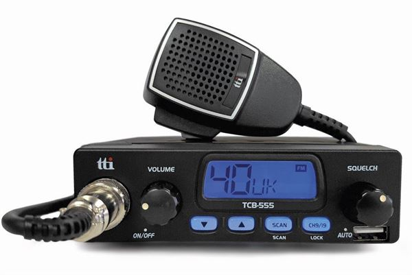 TTi TCB555 AM/FM EU/UK CB Radio with USB Power Socket