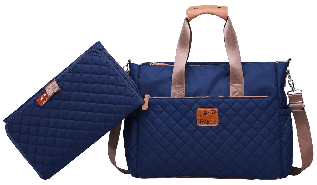 35381bc870220 iSwaddle 'Aria' Baby Changing Bag - Navy |Nappy Bags | Maternity Bags