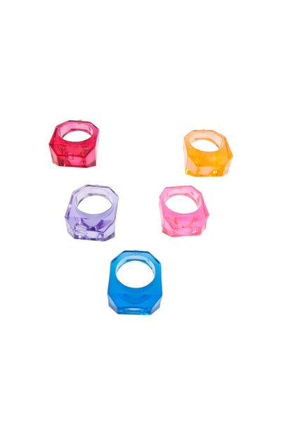 Jewel Rings x 4