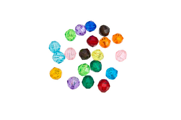 Faceted Jell Beads Small x 20