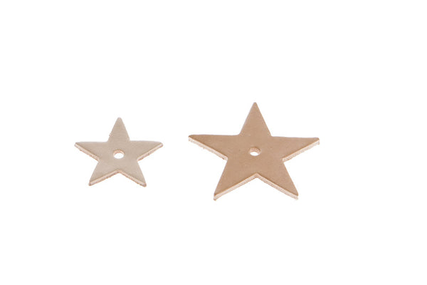 Leather Star x 4