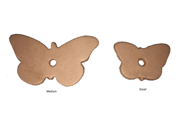 Leather Butterflies x 4