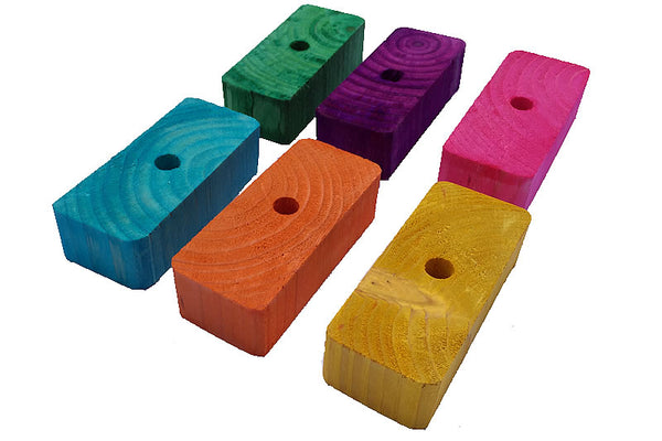 Wood Rectangle Bricks x 7