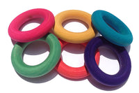 Wood Toss Rings x 6