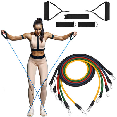 Tora Fitness 11 Piece Resistance Bands - The London Outlet