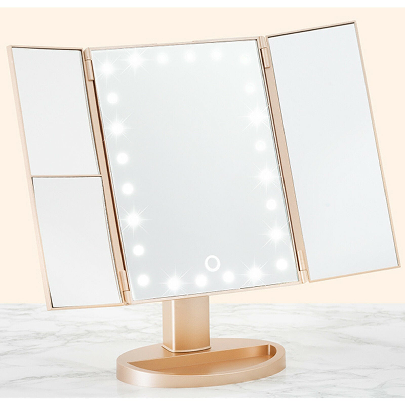 Tri Fold Vanity Mirror - The London Outlet