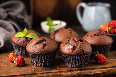 Cocoa Banana Protein Muffins