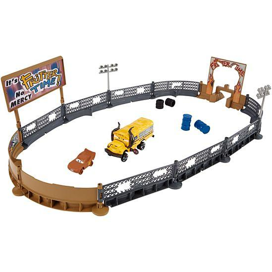 Disney Pixar Cars 3 Crazy 8 Crashers Smash and Crash Derby Playset