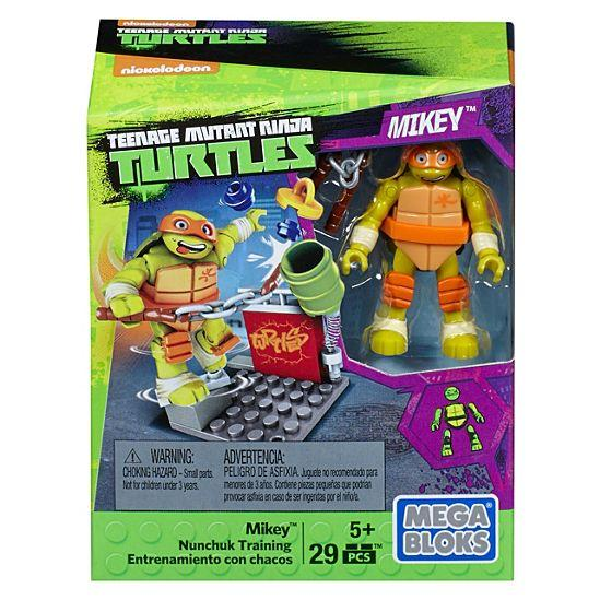 Mega Bloks Teenage Mutant Ninja Turtles Mikey Nunchuk Training