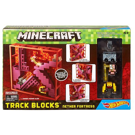 Minecraft Hot Wheels Track Blocks Nether Fortress Play Set